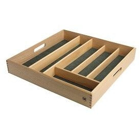 T&G Large Cutlery Tray With Green Lining