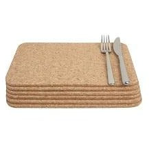 T&G Set 6 Rectangular Cork Mats