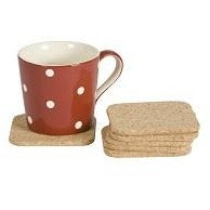 T&G Set 6 Square Cork Coasters