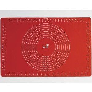 Red Silicone Baking Mat with Measurements