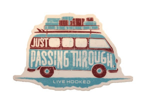 """Just Passing Through"" Decal"