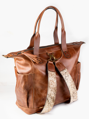 Convertible Day Bag (Cowhide Hair Strap)