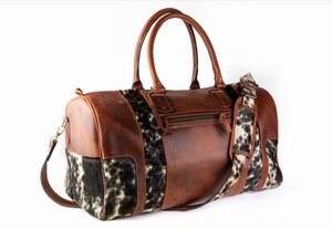 Cowhide strip Duffle (Carry on Size)
