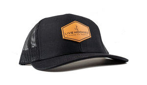 Trucker Hat: Leather Patch
