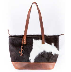Cowhide With Leather Bottom Tote