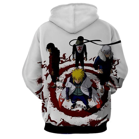 FIRST FOUR HOKAGE 3D HOODIE - NARUTO JACKET - Hoodielovers