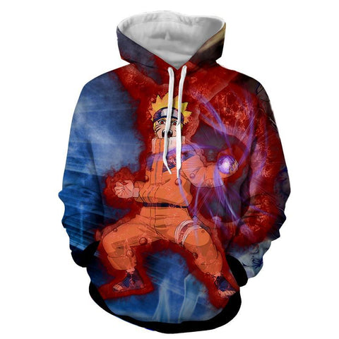 KID NARUTO NINE TAIL RASENGAN 3D HOODIE - NARUTO JACKET - Hoodielovers