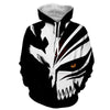 Image of Ichigo Kurosaki Cool Hollow black And White Mask 3D Hoodie - Hoodielovers