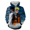 Image of NARUTO AND SASUKE 3D HOODIE - NARUTO JACKET - Hoodielovers