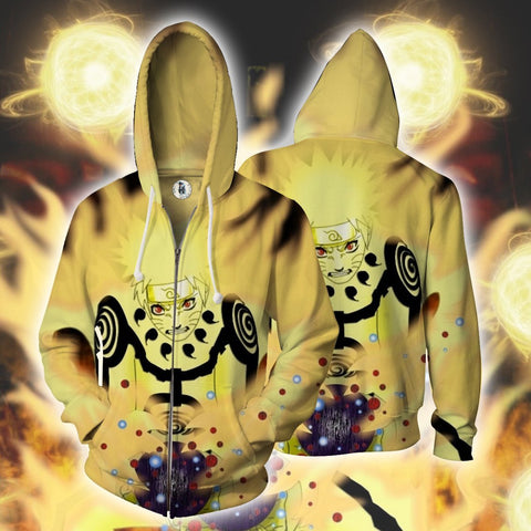 Naruto Hoodie - 3D Hoodie - Zip Up Jacket - Hoodielovers