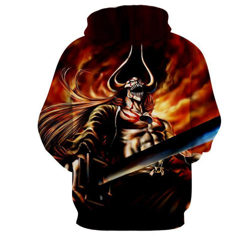 Ichigo Full Hollow Vasto Lorde Tensa Zengatsu Bleach 3D Hoodie - Hoodielovers