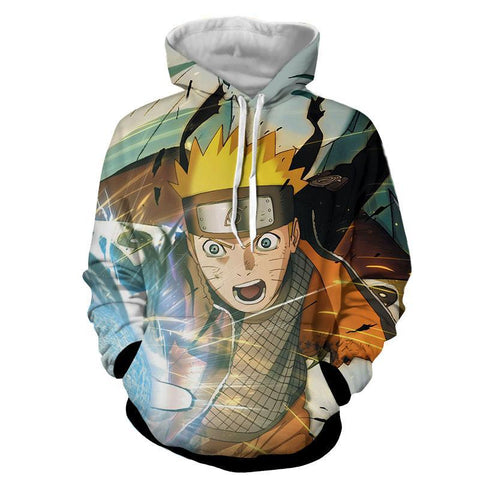 Naruto 3D Hoodies - Fighting Naruto jacket - Hoodielovers