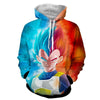 Image of Dragon Ball Z Hoodie - Vegeta SSJ God 3D Hoodie - Hoodielovers