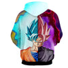 Image of Dragon Ball Super Z Hoodie - Goku Black Fusion 3D Hoodie - Hoodielovers