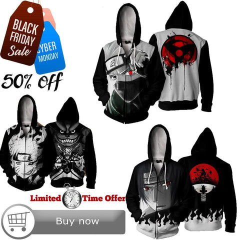 Black Friday / Cyber Monday Deal #18 | Naruto | 3 Hoodies Bundle - Hoodielovers