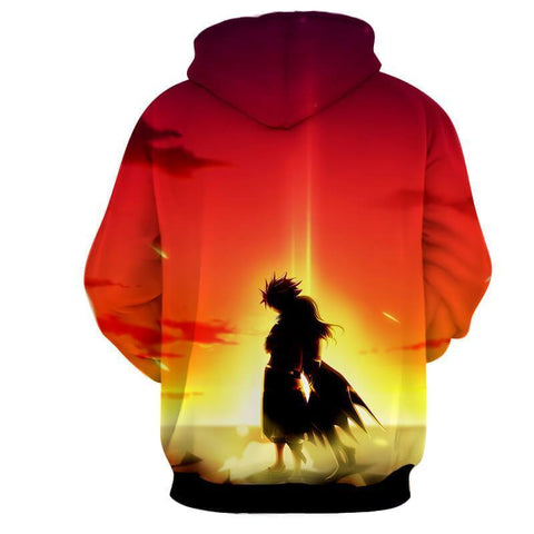 Fairy Tail Natsu Dragneel Cool Sunset 3D Hoodies - Hoodielovers