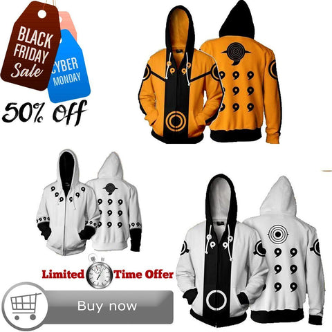 Black Friday / Cyber Monday Deal #20 | Naruto | 3 Hoodies Bundle - Hoodielovers
