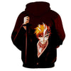 Image of Ichigo Kurosaki Hollow in Control 3D Hoodie - Hoodielovers