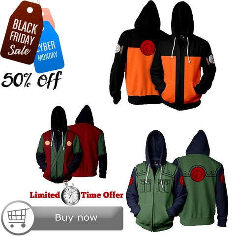 Black Friday / Cyber Monday Deal #21 | Naruto | 3 Hoodies Bundle - Hoodielovers
