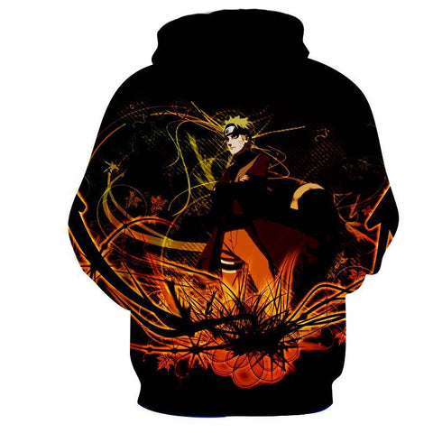 NARUTO ORANGE 3D HOODIE - Naruto Jacket - Hoodielovers