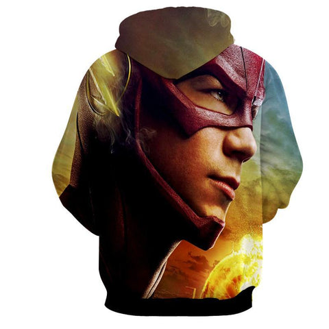 DC Flash 3D Printed Hoodie - The Flash Jacket - Star Lab Hoodie - Hoodielovers
