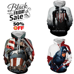 BLACK FRIDAY DEAL #10 - Captain America 3 Hoodies Bundle - Hoodielovers