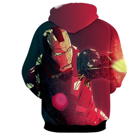 Abstract Iron Man 3D Printed Hoodie - Hoodielovers