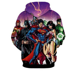 Justice League All Heros 3D Printed Hoodie