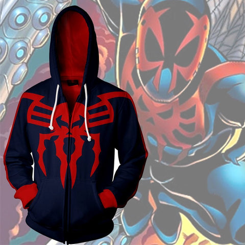 Spiderman 2099 Hoodie - Spiderman 2099 Zip up - Jacket - Hoodielovers
