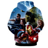 Image of Avengers 3D Printed Hoodie / Iron Man / Captain America / Thor / Hulk - Hoodielovers