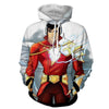 Image of Grey & Red Shazam 3D Hoodie - Jacket - Hoodielovers