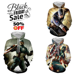 BLACK FRIDAY DEAL #11 - Captain America 3 Hoodies Bundle - Hoodielovers