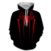 Image of Red Spider 3D Black Hoodie - Jacket - Hoodielovers