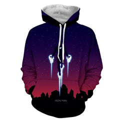 Iron Man 3D Printed Dark Hoodie - Hoodielovers