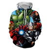 Image of Avengers 3D Printed Hoodie/  Iron Man / Thor / Hulk - Hoodielovers