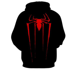 Red Spider 3D Black Hoodie - Jacket