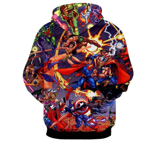 Justice League All Heros 3D Printed Action Hoodie - Hoodielovers