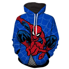 Spiderman Hoodie - Spiderman & Spider Web Hoodie - Spiderman Jacket - Hoodielovers