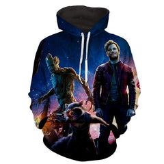 Peter Quill-Raccoon-Groot 3D Hoodie - Guardian Of Galaxy Jacket - Hoodielovers