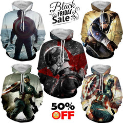 BLACK FRIDAY DEAL #13 - Captain America 5 Hoodies Bundle - Hoodielovers