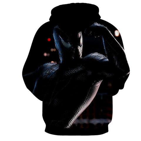 Black Spiderman 3D Hoodie - Jacket - Hoodielovers