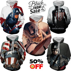 BLACK FRIDAY DEAL #14 - Captain America 5 Hoodies Bundle - Hoodielovers