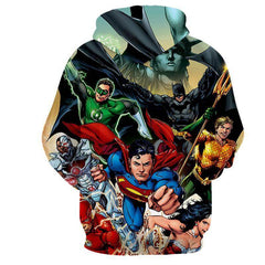 Justice League Action Heros 3D Printed Hoodie