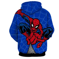 Spiderman Hoodie - Spiderman & Spider Web Hoodie - Spiderman Jacket