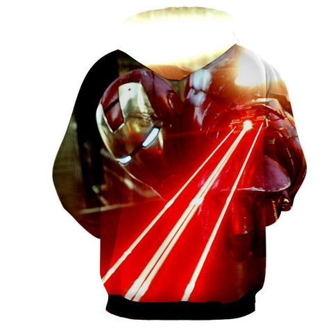Iron Man 3D Printed Laser Hoodie - Hoodielovers