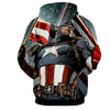 Image of Captain America Full Armor 3D Printed Hoodie - Hoodielovers