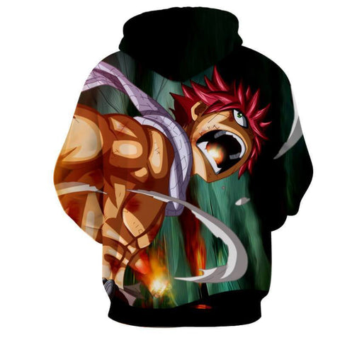 Natsu Dragneel Black Fairy Tail 3D Hoodies - Hoodielovers