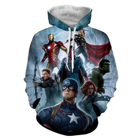 Avengers 3D Printed Hoodie / Iron Man / Captain America / Hulk & All Other - Hoodielovers