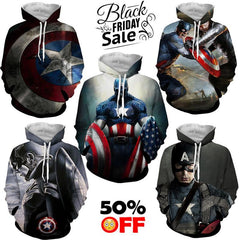 BLACK FRIDAY DEAL #15 - Captain America 5 Hoodies Bundle - Hoodielovers