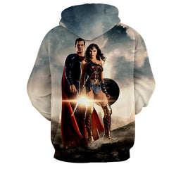Justice League 3D Printed Hoodie / Superman & Wonder Women